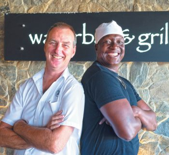 Manager Peter Crotty and Chef Dumi Dlamini