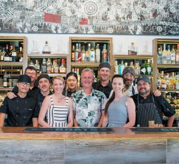 Craig Squire (centre) and the team at Ochre
